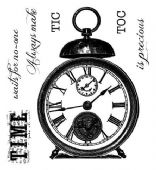 Woodware - Tic Toc - Clear Magic Single Stamp - FRS053